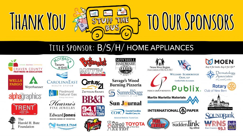 Craven County Partners In Education Announces Stuff the Bus